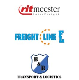 Logo's Ritmeest, Freightline en B&B Transport